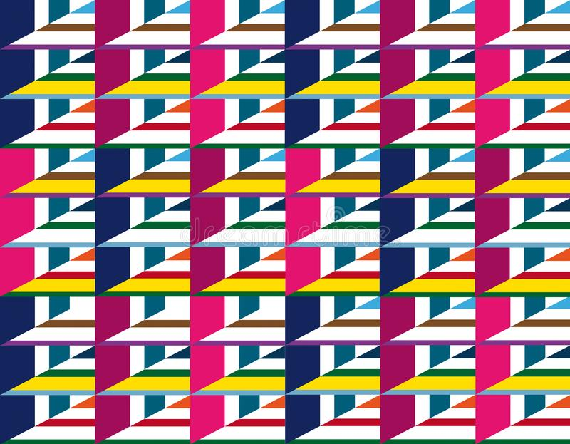 Мозаика треугольников фантазии в различных цветах иллюстрация штока