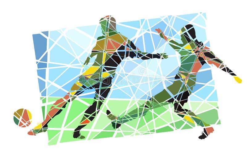 Мозаика футбола бесплатная иллюстрация
