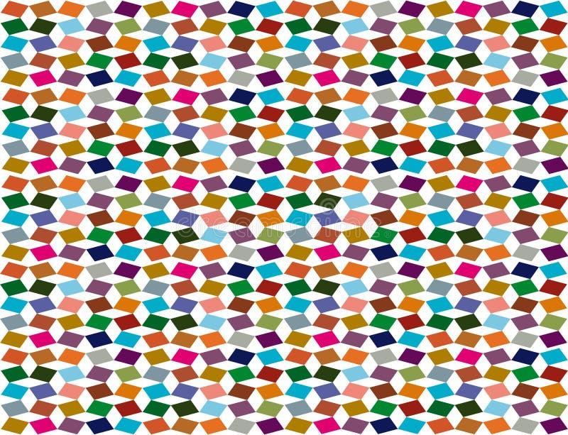 Мозаика цвета квадратов в различных цветах стоковая фотография