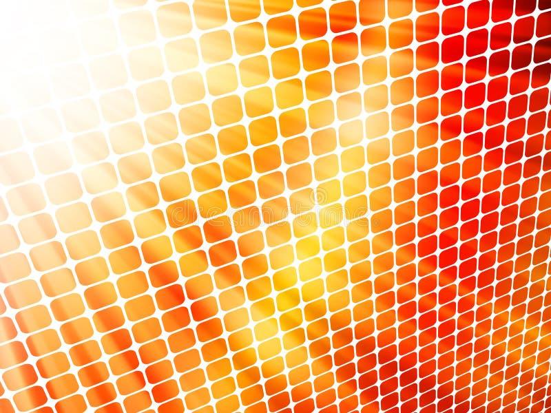 Мозаика 3D красных желтых лучей светлая. EPS 10 иллюстрация штока