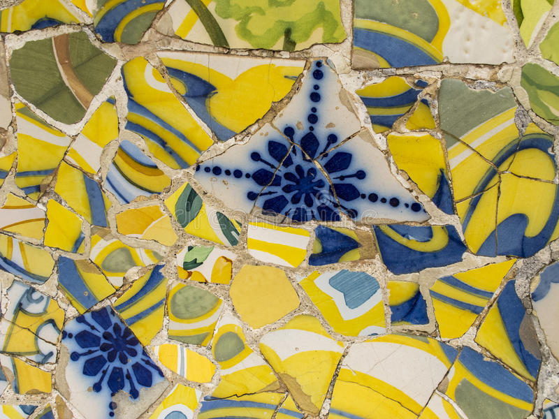 Мозаика Gaudi стоковые изображения