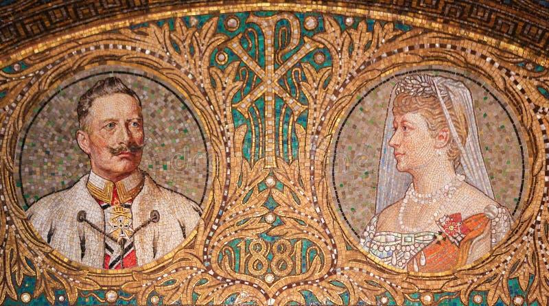 Мозаика Kaiser Вильгельма II стоковое фото rf