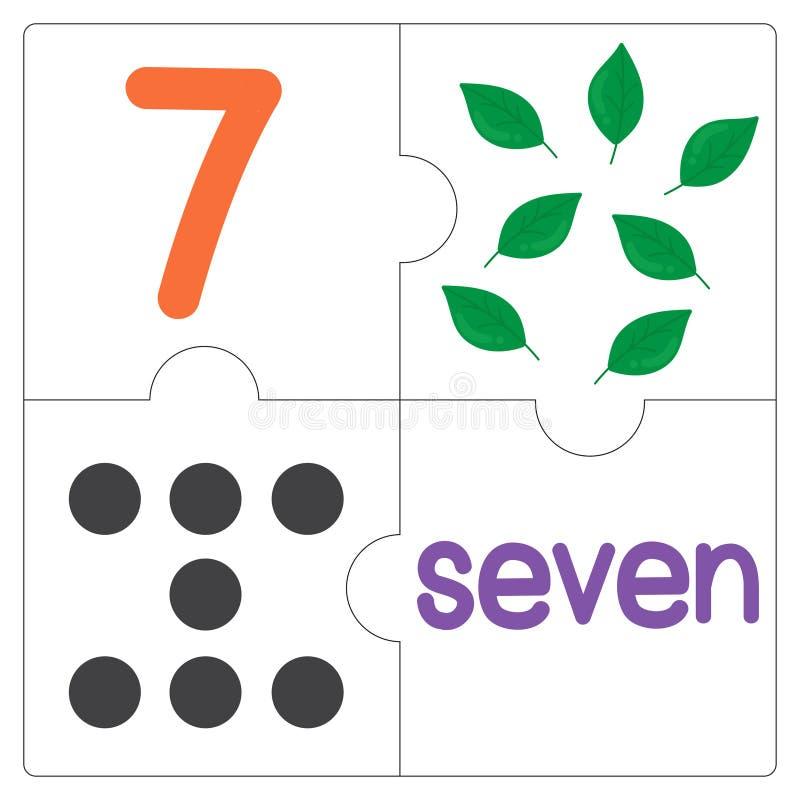 Мозаика number-7 иллюстрация штока