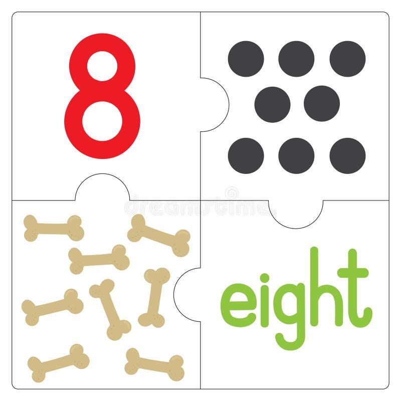 Мозаика number-8 иллюстрация вектора