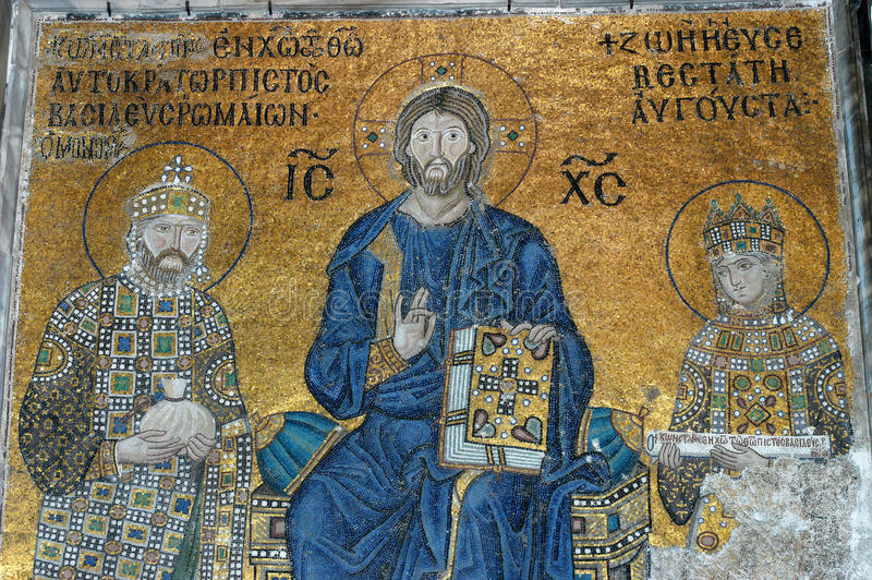 мозаика sofia istanbul jesus hagia christ стоковое изображение rf