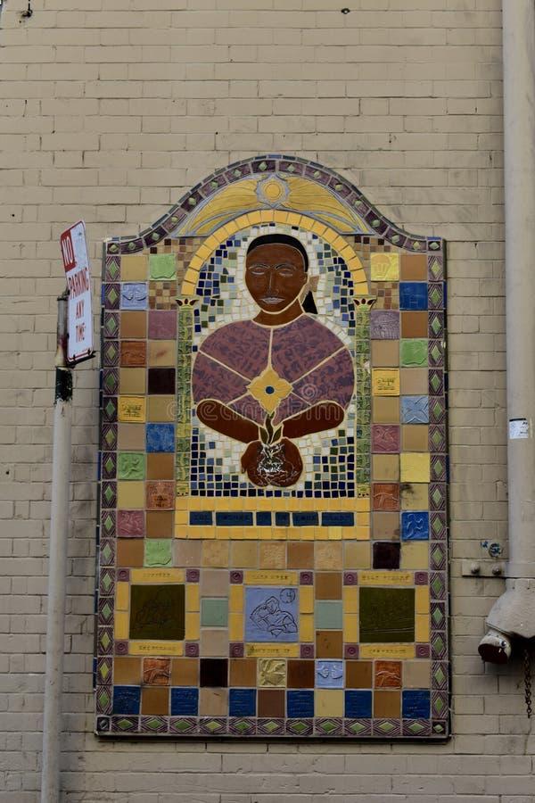 Мозаики искусства улицы Сан-Франциско стоковое фото