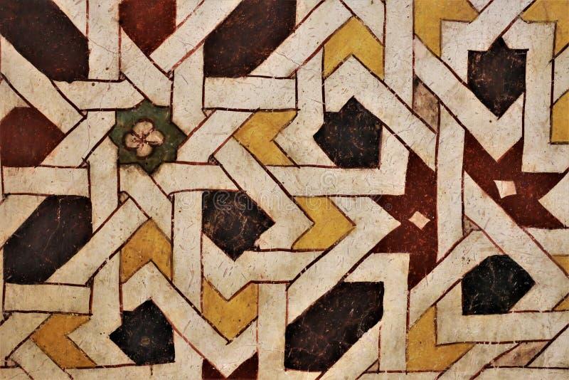 Мозаики покрашенные на стене стоковое изображение rf