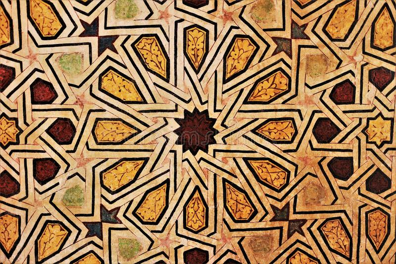 Мозаики покрашенные на стене стоковое фото rf