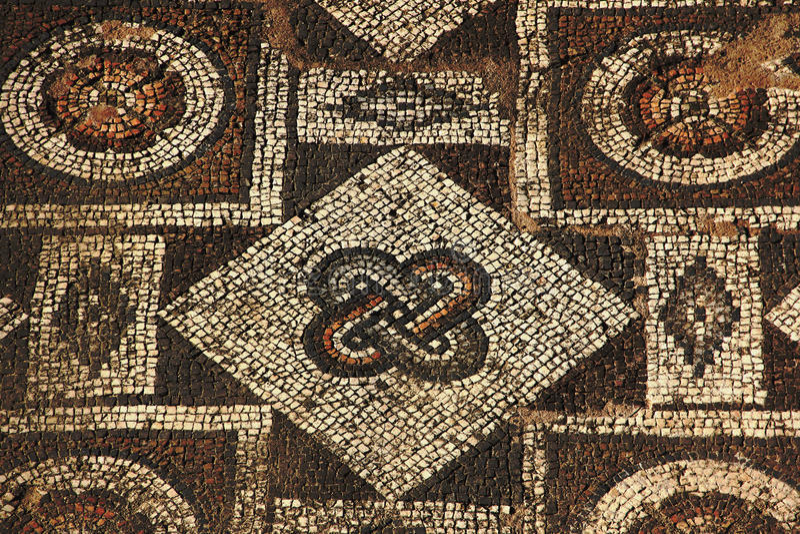 Мозаики древнегреческия стоковое фото rf