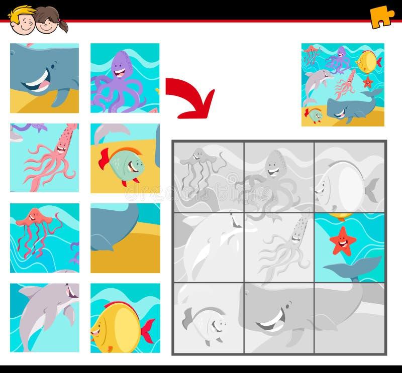 Мозаики с животными морской жизни иллюстрация штока