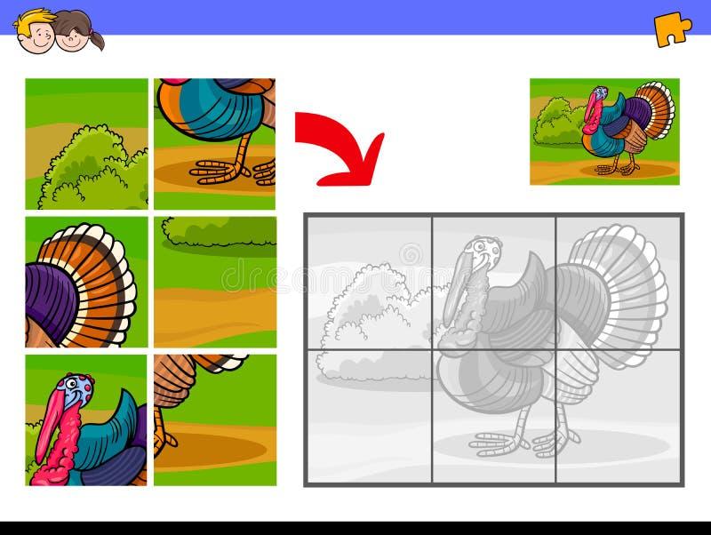 Мозаики с характером животного индюка бесплатная иллюстрация