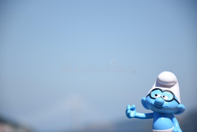 Мозговитое Smurf стоковая фотография rf