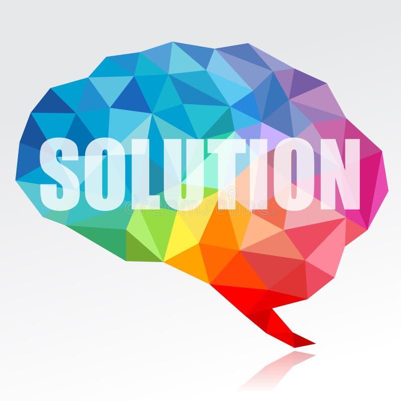 Мозг и решение иллюстрация штока