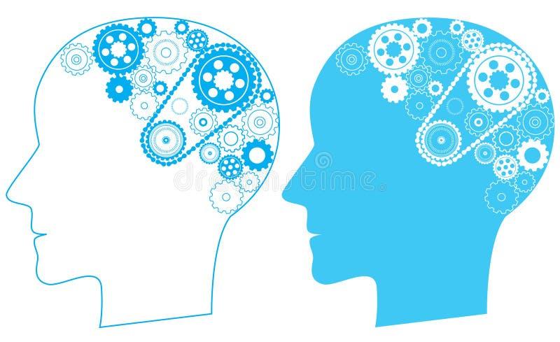 Мозг шестерни иллюстрация штока