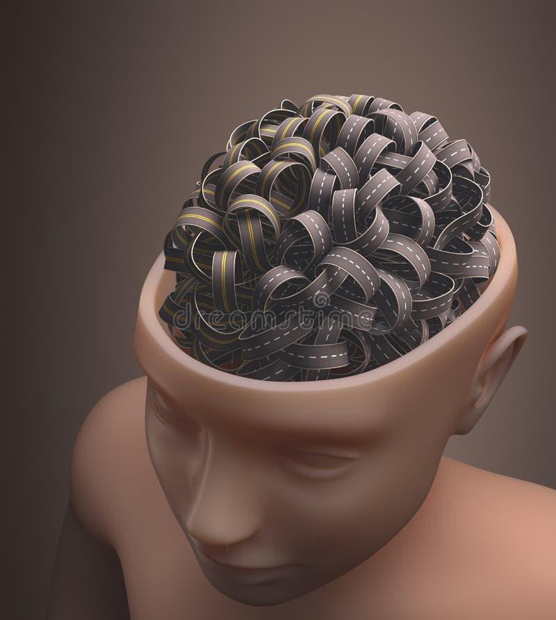 Мозг шоссе иллюстрация вектора