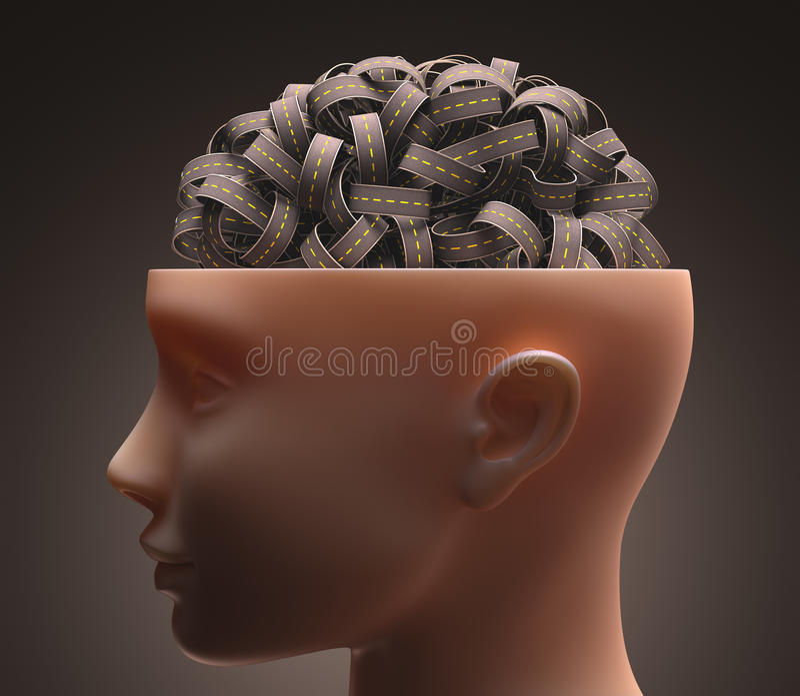 Мозг шоссе иллюстрация штока