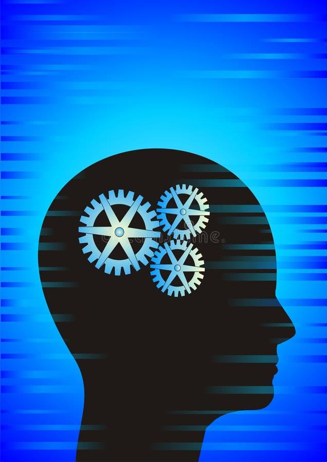 мозг clockworking бесплатная иллюстрация