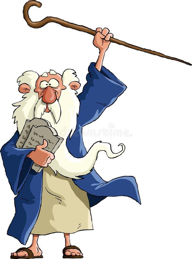 Моисей иллюстрация вектора