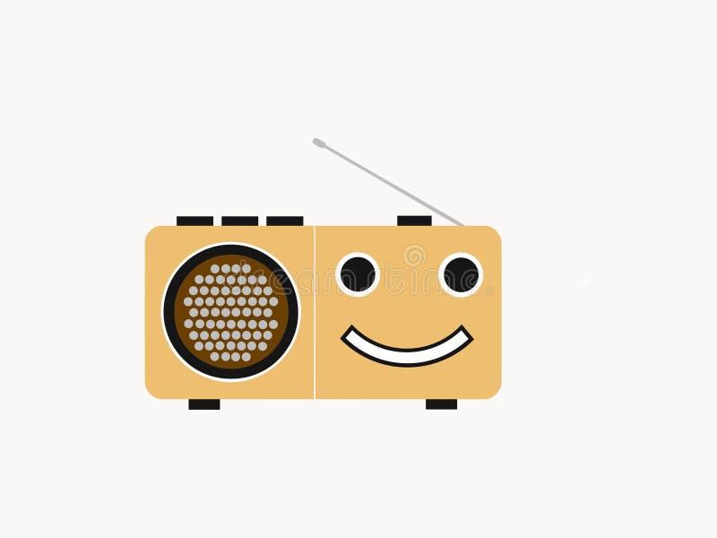 Мои потеха и счастливое радио иллюстрация вектора