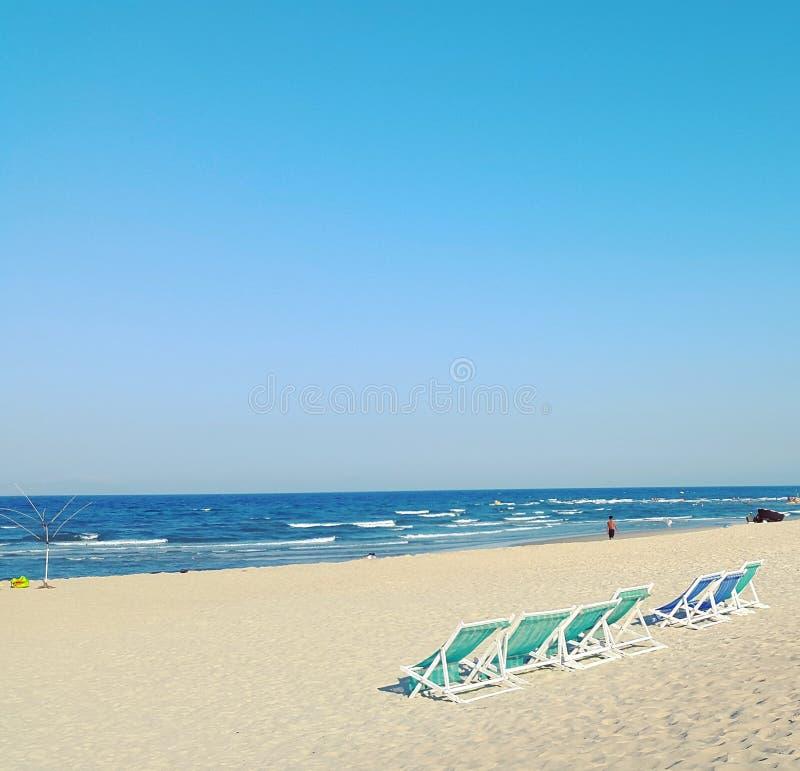 Мой пляж Khe, город Da Nang, Вьетнам стоковое изображение