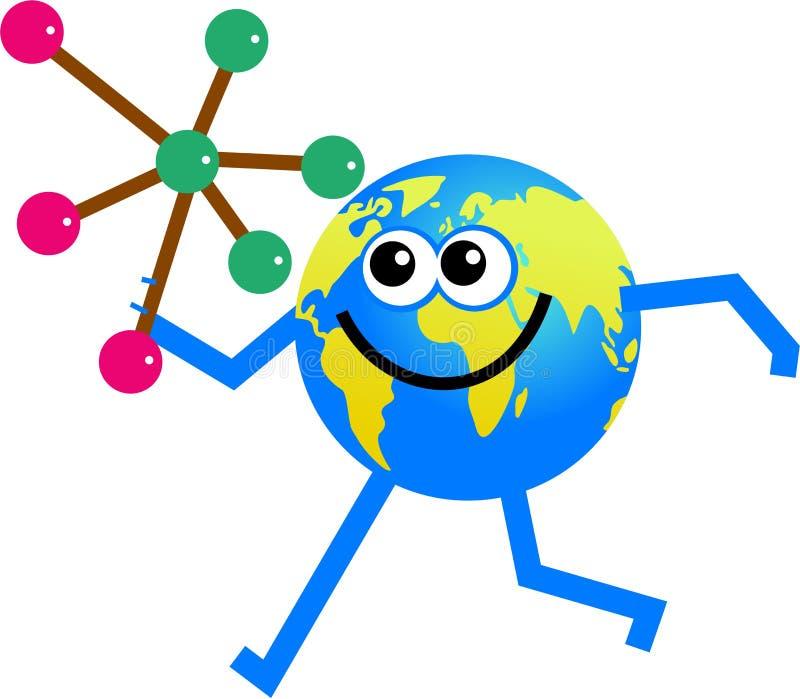 молекула глобуса иллюстрация вектора