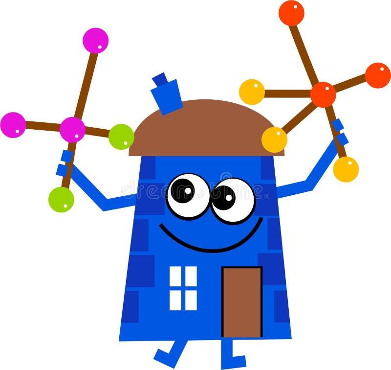 молекула дома иллюстрация вектора
