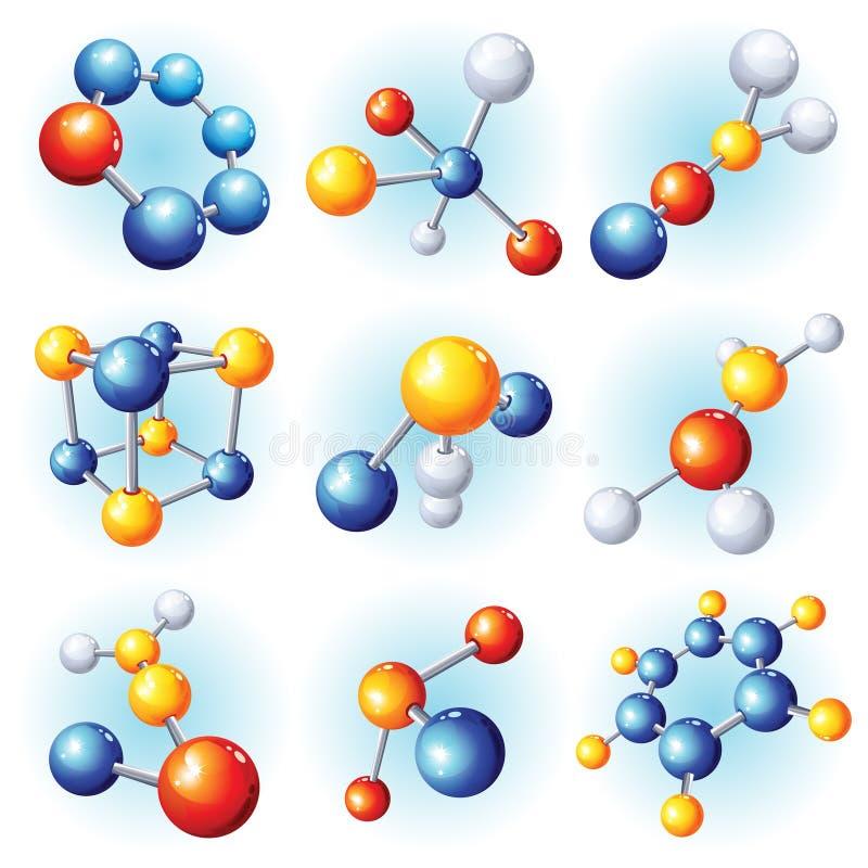 молекула икон иллюстрация штока