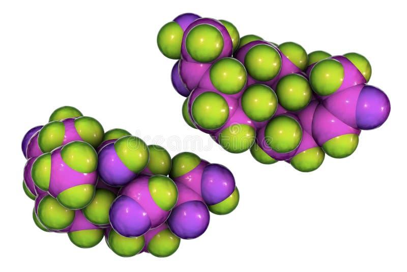 Молекула инкрети альдостерона иллюстрация штока