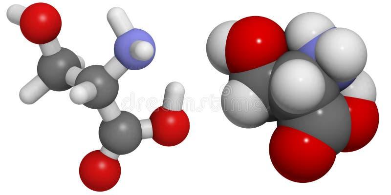 Молекула серина (Ser, s) бесплатная иллюстрация