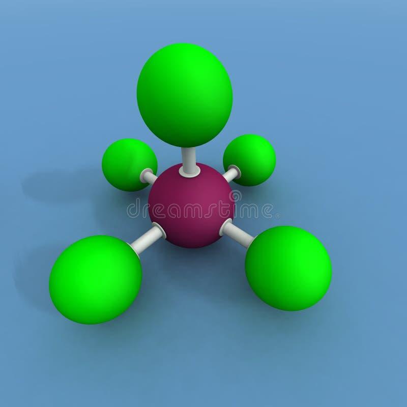 молекула фторида брома иллюстрация вектора