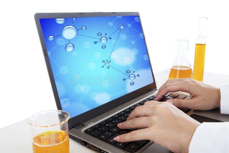 молекула эксперимента стоковое изображение