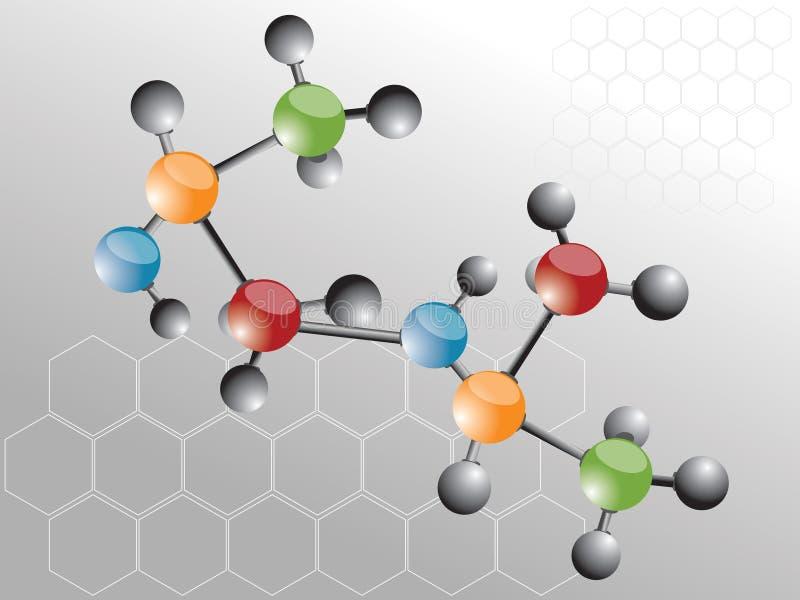 молекула иллюстрация вектора
