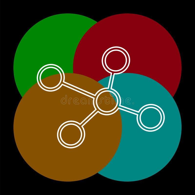 Молекулы атома, наука и химия, химические иллюстрация штока