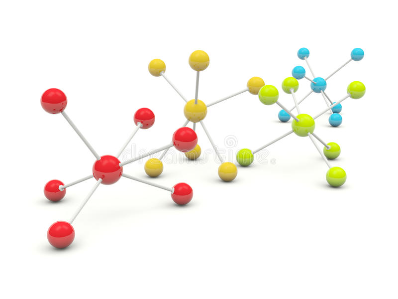 молекулы глянцеватые иллюстрация вектора