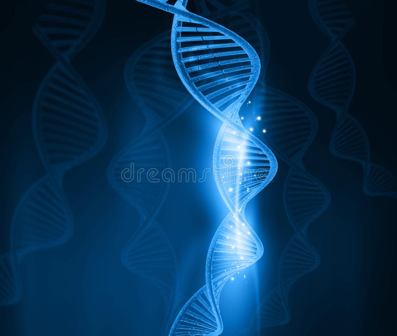 Молекулы дна бесплатная иллюстрация
