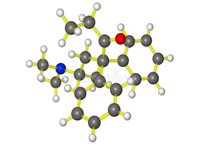 молекулярная methadone модельная иллюстрация штока
