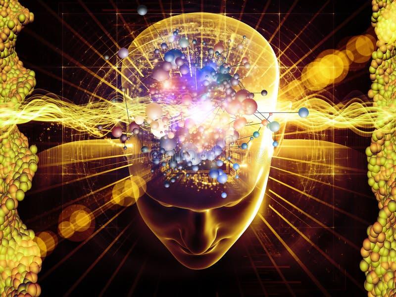 молекулярные мысли иллюстрация штока