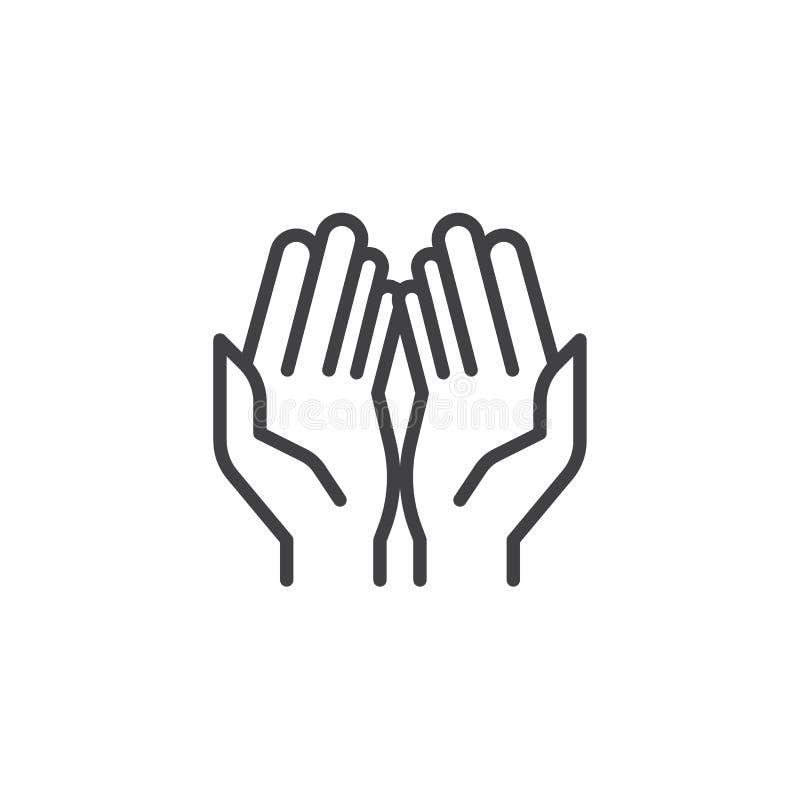 Молитва вручает значок плана бесплатная иллюстрация