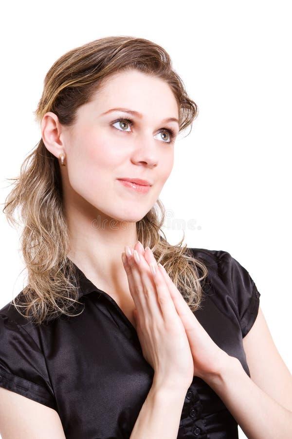 молитва девушки красотки стоковые изображения