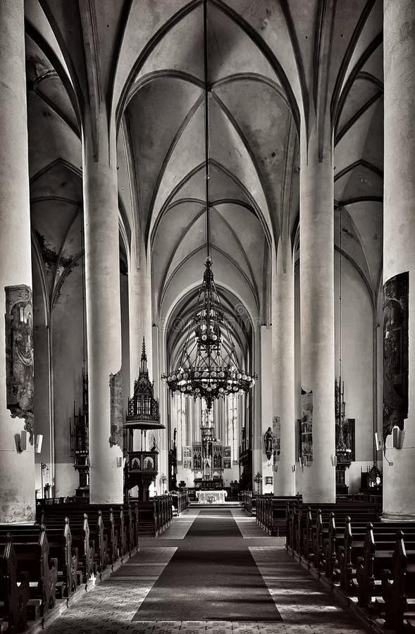 Молитва креста Иисуса церков Eger Cheb стоковые фотографии rf
