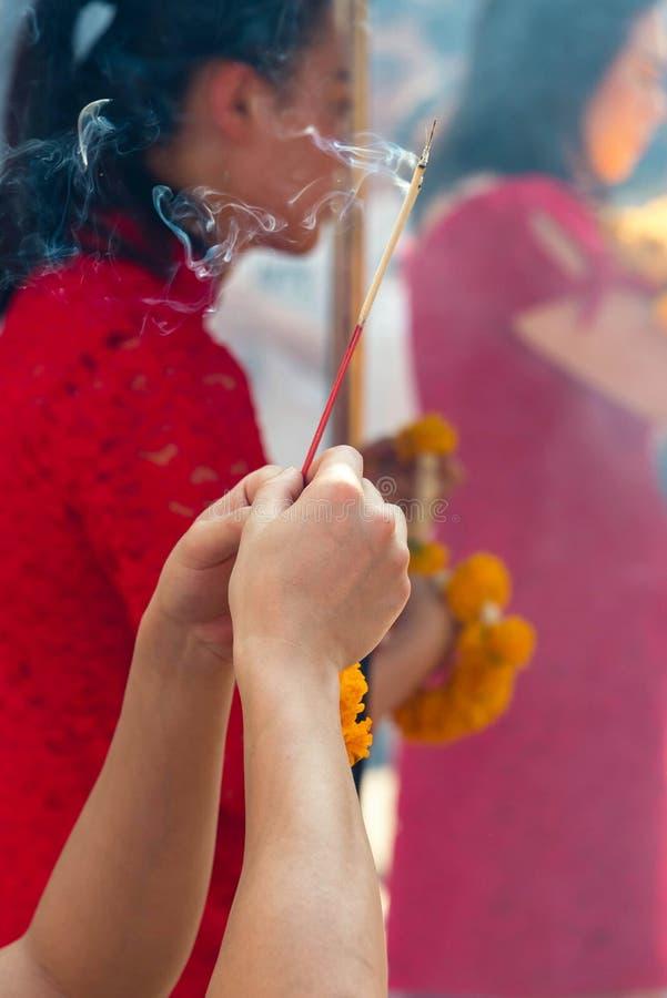 Молитва ладана стоковые изображения