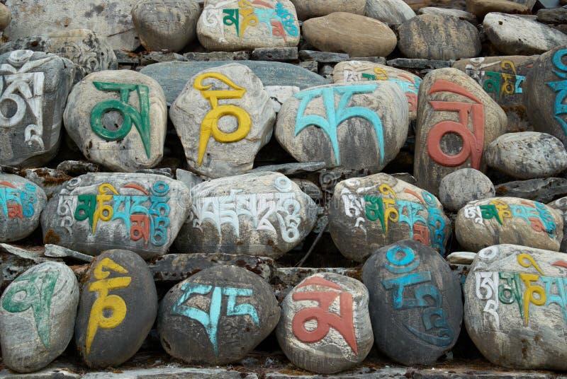 молитва облицовывает тибетца стоковые изображения