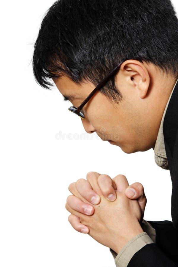 молить бизнесмена стоковое фото