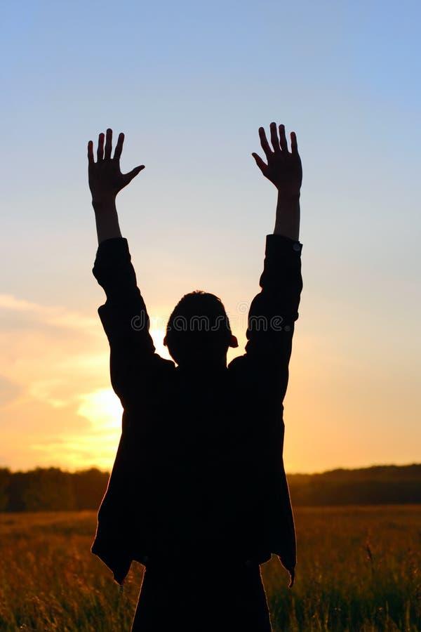 молить человека стоковые изображения