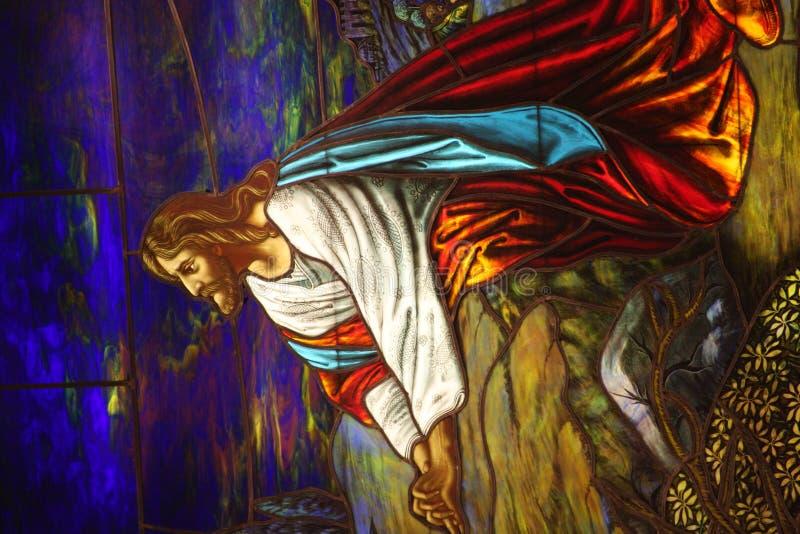 молить jesus стоковая фотография rf