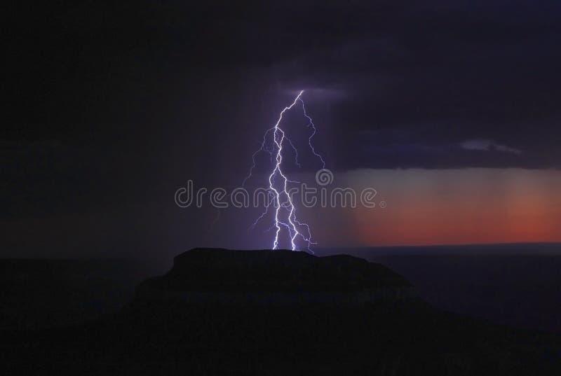 Молния гранд-каньона стоковая фотография