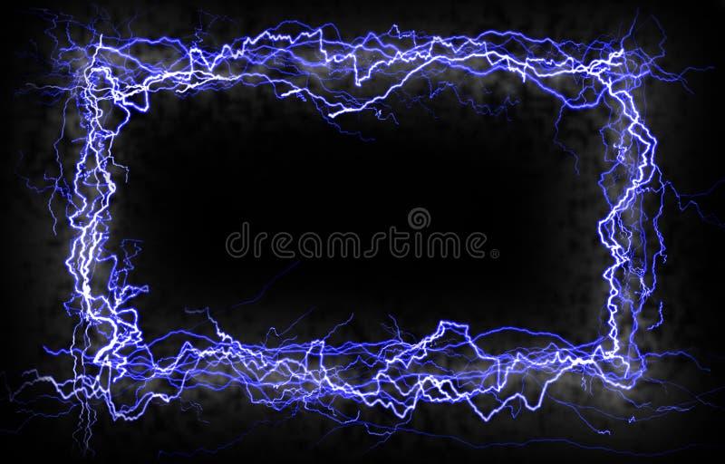 молния граници иллюстрация вектора