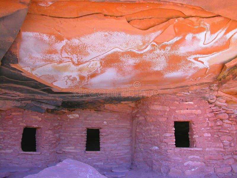 молния дома Anasazi Стоковые Изображения RF
