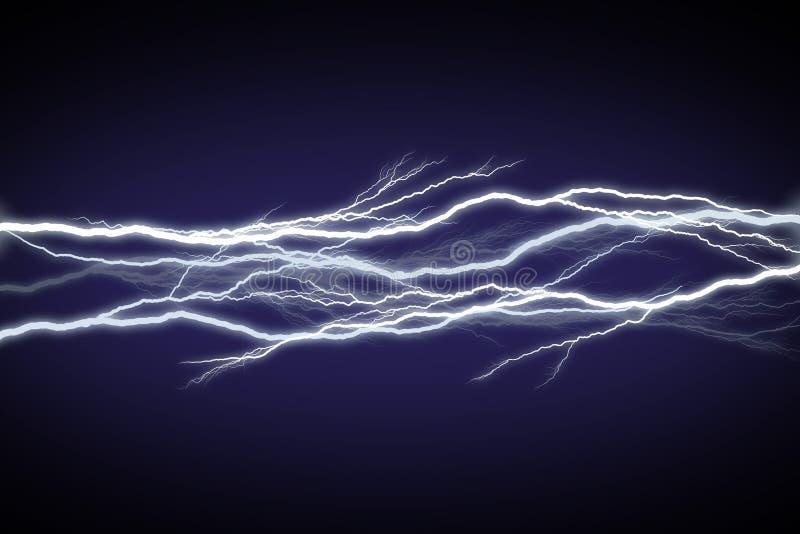 молния поля стоковое изображение rf