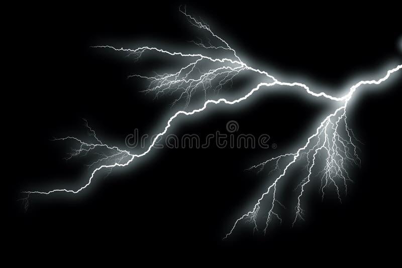 Молния с черной предпосылкой бесплатная иллюстрация